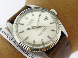 ROLEX OYSTER PERPETUAL DATE JUST WHITE SILVER DIAL - ROLEX 1601 WHITE SILVER DIAL