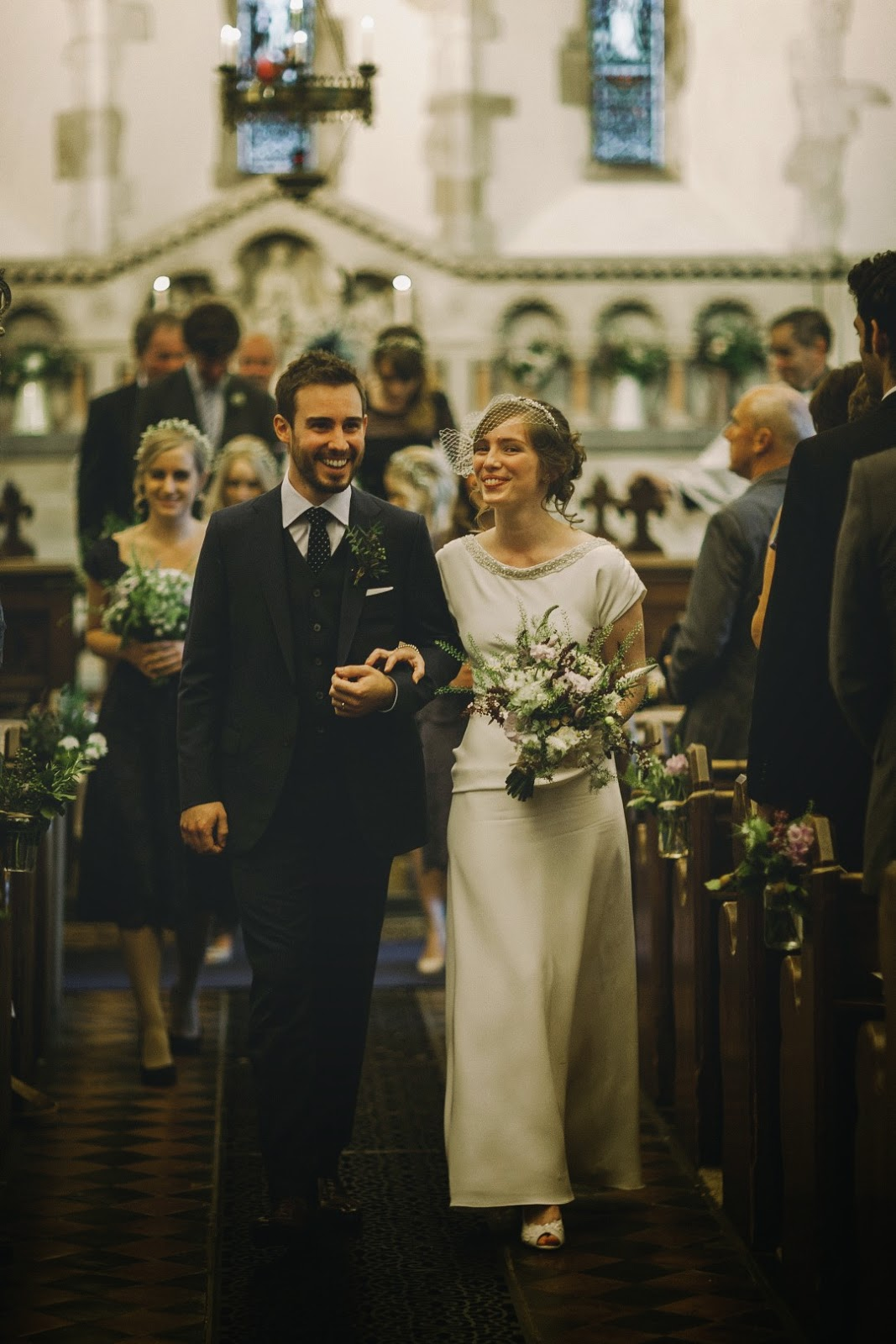 Real vintage bride Susie walks down the aisle, Heavenly Vintage Brides Wedding Blog