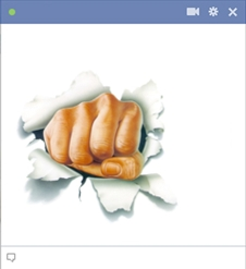hidden-fist-cut-through-facebook-chat-box