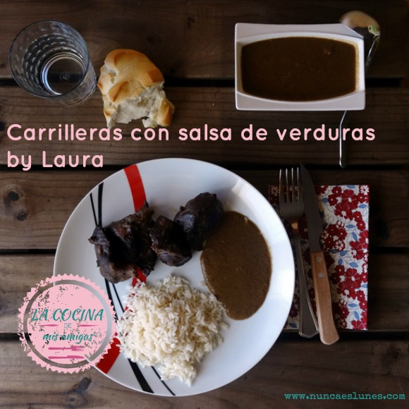 carrilleras con salsa de verduras by laura