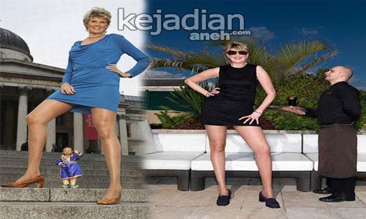 wanita dengan kaki terpanjang di dunia