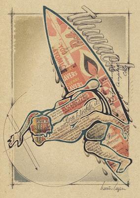 Surf Art, Surf Print, Vintage Surf, Retro Surf Print