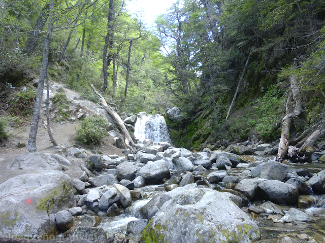 Cascada Inacayal, arroyo piedritas