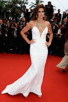 Cindy Crawford white gown