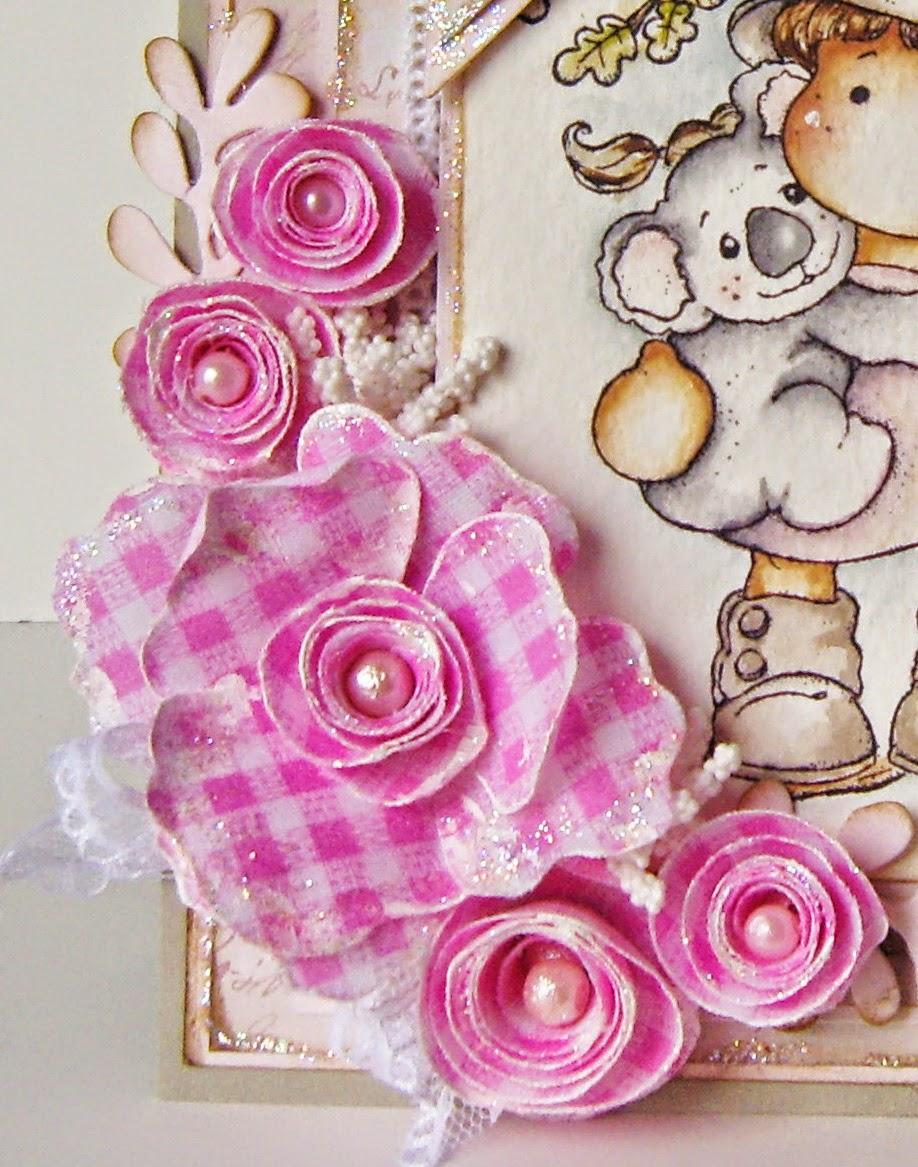 flores de tecido de algodão