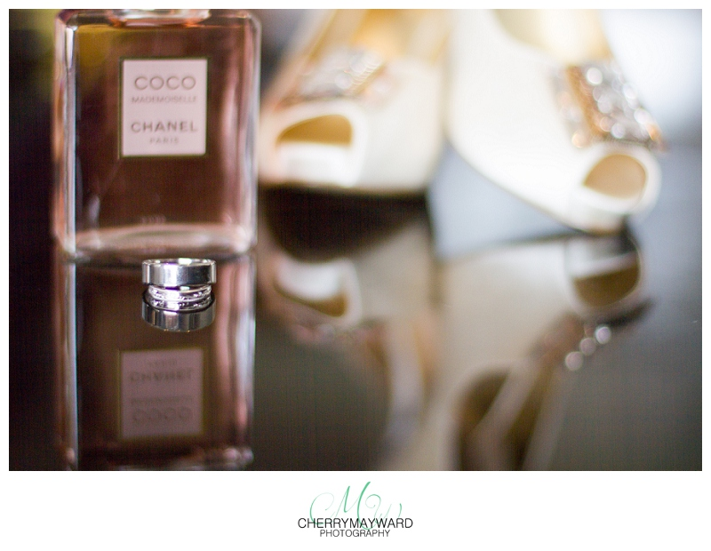 wedding details, wedding rings, perfume and shoes, beautiful wedding, reflection, koh Samui wedding at Beach Republic