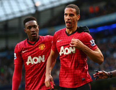 Rio Ferdinand - Danny Welbeck Manchester City vs Manchester United 2012