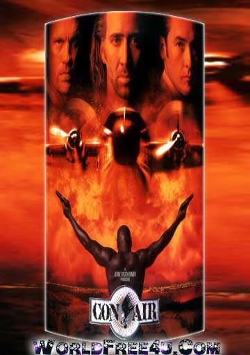 Poster Of Con Air In Dual Audio Hindi English 300MB Compressed Small Size Pc Movie Free Download Only At worldfree4u.com