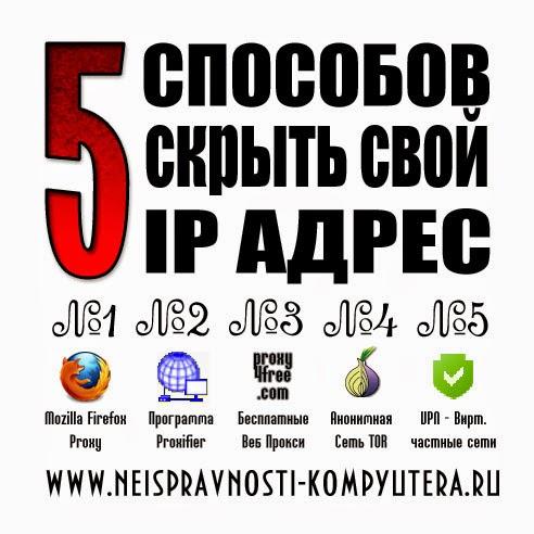 Как скрыть свой IP адрес?
