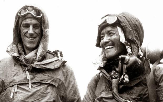 Tenzing Sherpa and Edmund hillary