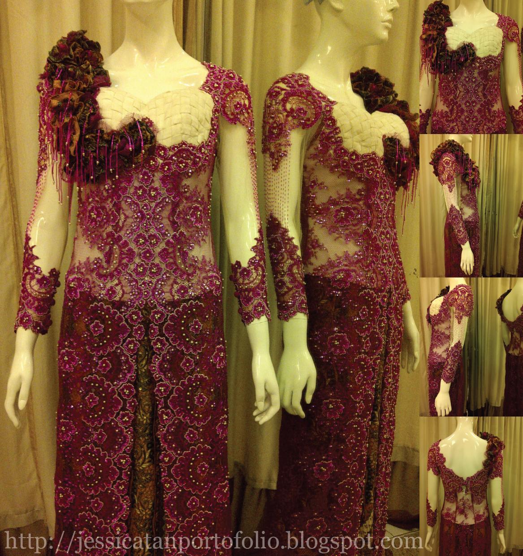 Modern kebaya dress