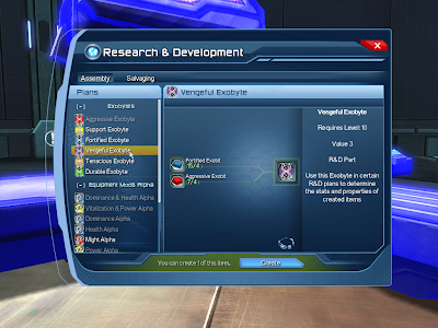 DC Universe Online - RnD Assembly Window
