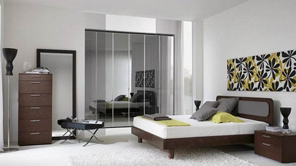 ide desain interior kamar tidur minimalis terbaru gambar