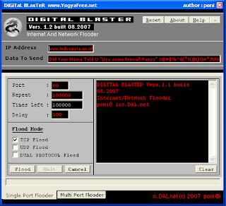 Kalau software ini untuk melakukan DOS pada suatu website agarwebsite ...