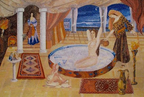 Cleopatra's milk bath