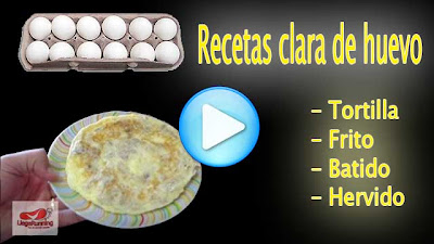 recetas clara huevo