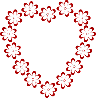 border clipart heart shaped flowers