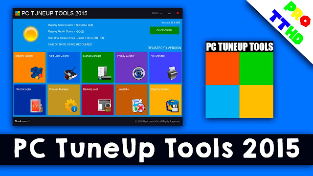 Free Download PC Tuneup Utilities 2015 Portable Software