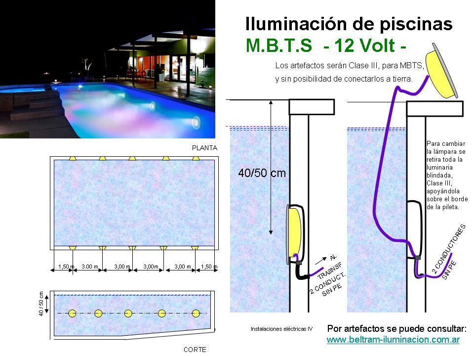 instalaciones el ctricas m b t s iluminaci n en piscinas