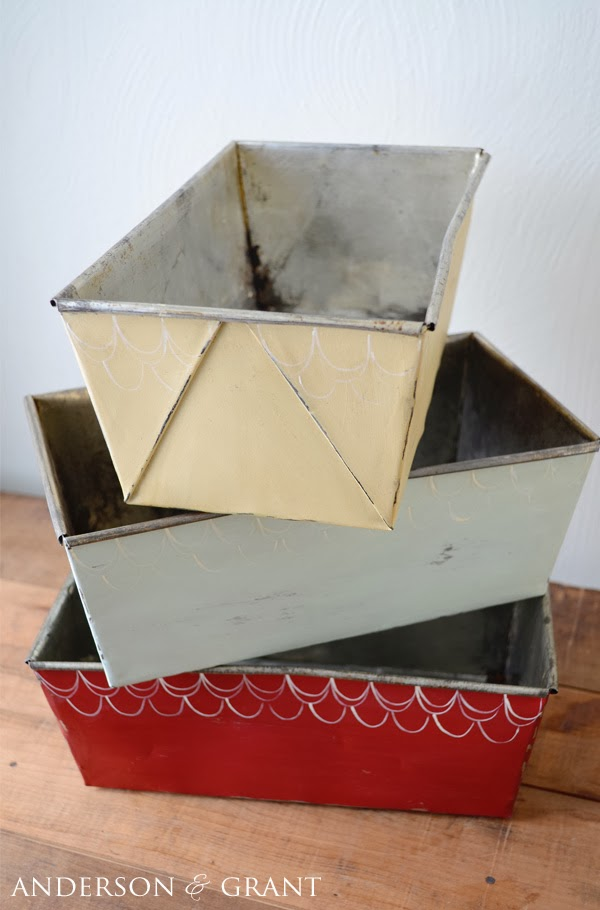 How to transform old loaf pans into decorative storage | www.andersonandgrant.com