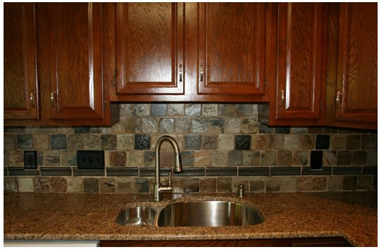 Rustic Backsplash For Kitchen
