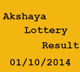 Akshaya (AK-157) Kerala Lottery Result-01/10/2014