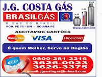 Revendedor autorizado e Brasilgás-goiana.