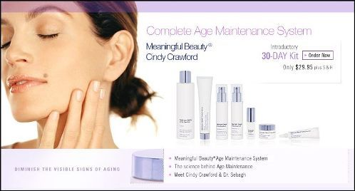 Cindy crawford Facial care products