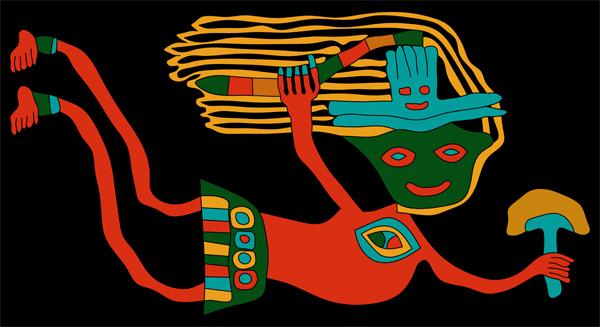 paracas textiles, paracas figures, indian figures, andean figures, andean cultures, andean textiles, shamanic figure, shaman figures,