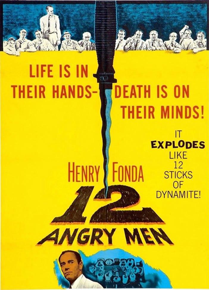 Cartel de la película : 12 hombres sin piedad, Sidney Lumet, 1957