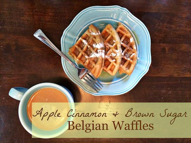 ... You More Than Carrots: Apple Cinnamon and Brown Sugar Belgian Waffles