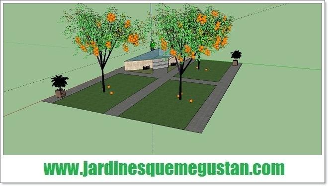 jardines que me gustan: sketchup de google: herramienta para el