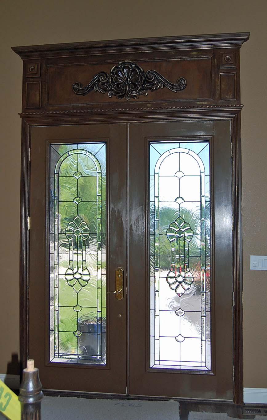 Fancy Front Doors : Davis creative painting decorative front door