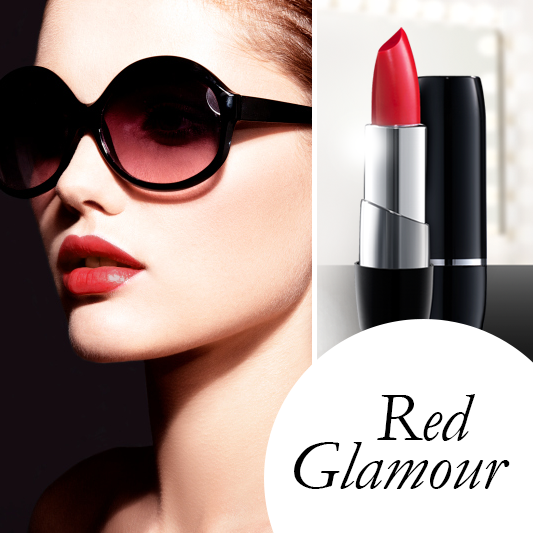 Red Glamour Look