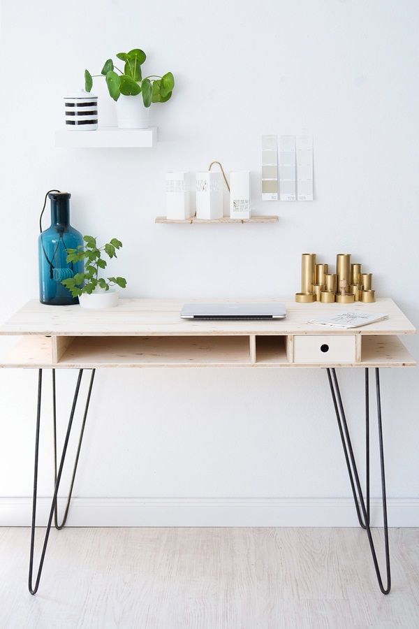 Ein Schreibtisch Zum Selberbauen | Sinnenrausch - Der Kreative Diy