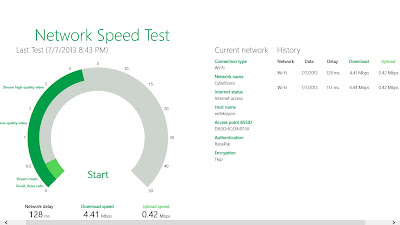 Windows 8 Network Speed Test