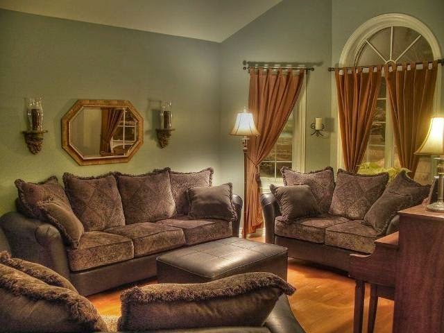 Living room colors for walls - Brown couch living room color schemes ...