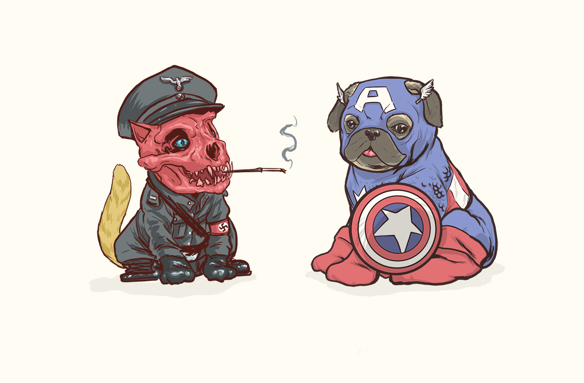 E se alguns da Marvel fossem cachorros...