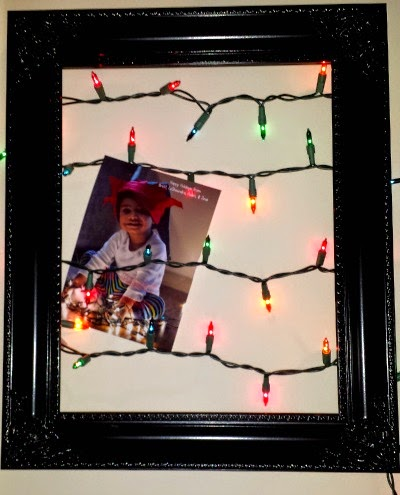 lights and frame for christmas cards