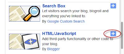 blogger html/javascript widget