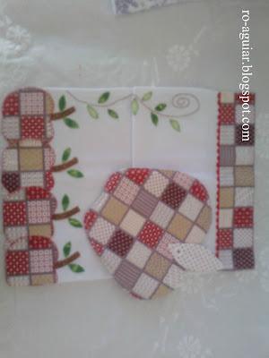 artesanato em patchwork - pano-de-prato e descanso de panela