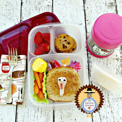 My Epicurean Adventures: Thanksgiving Reuben and Mac n' Cheese Lunch - Lunch box ideas, school lunch ideas, lunches