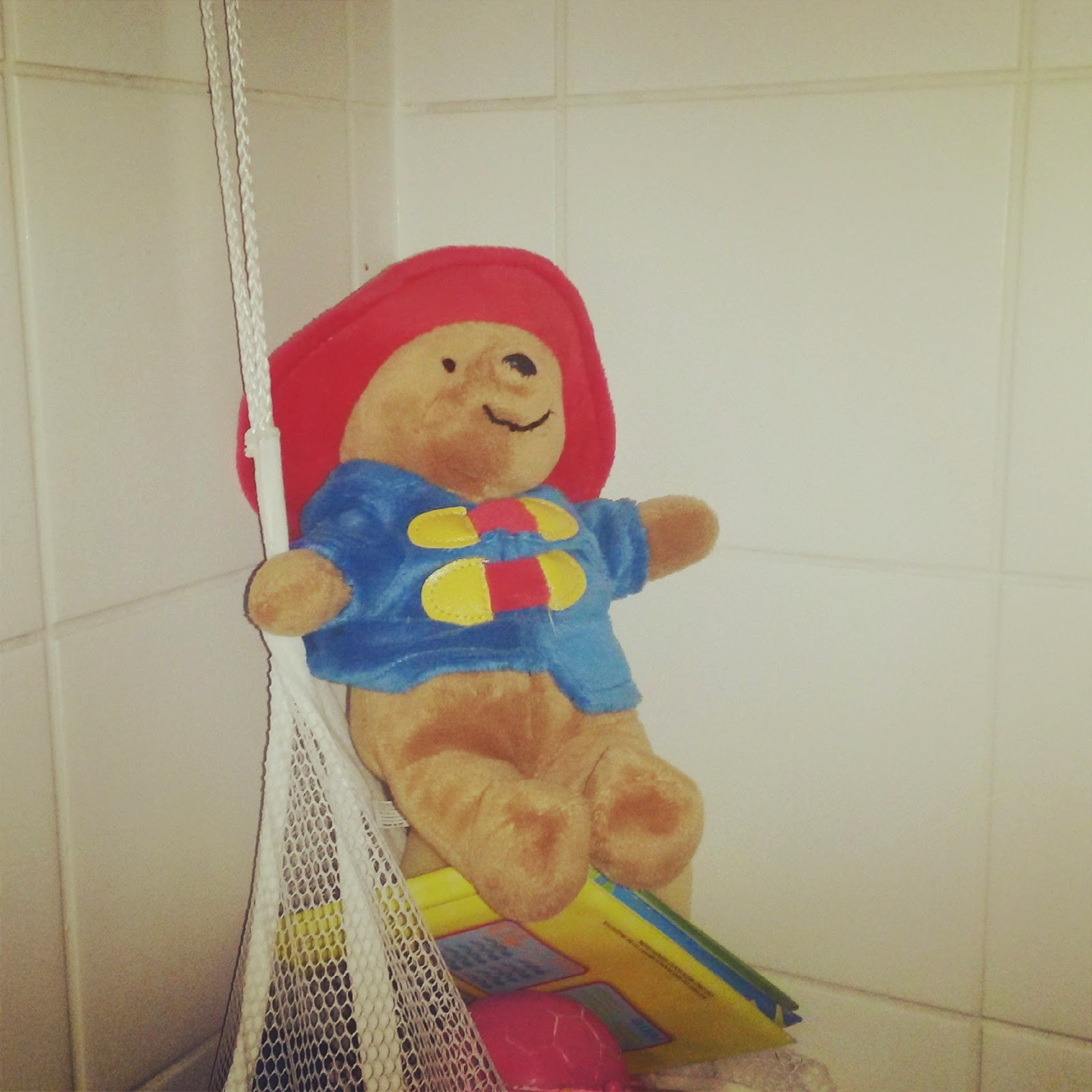 Paddington in the shower