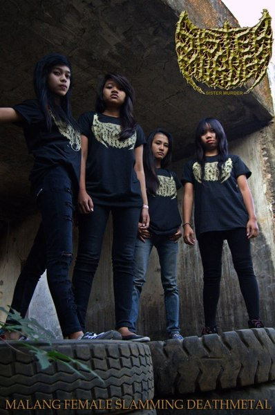 Sister Murder Band Female Slamming Death Metal Malang Foto Personil Logo Wallpaper