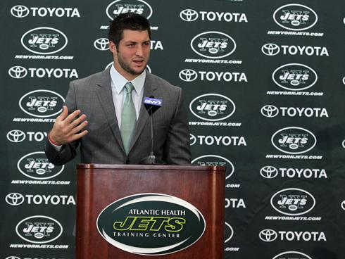 Tebow Press Conference During The Press Conference