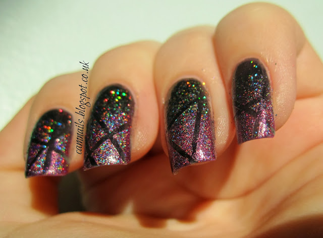 holographic-lilypad-lacquer-emily-de-molly-tape-gradient-manicure-nail-art