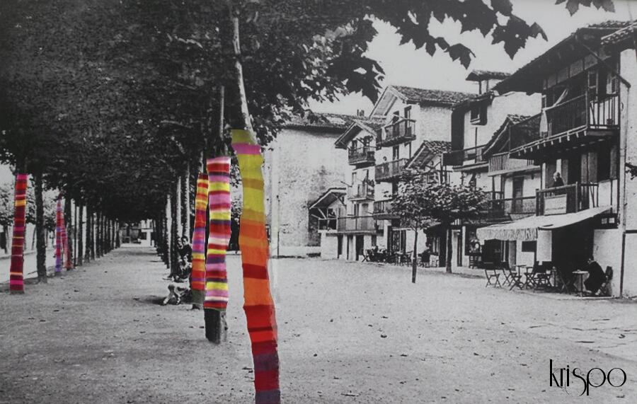 fotografia antigua de la calle sanpedro de hondarribia