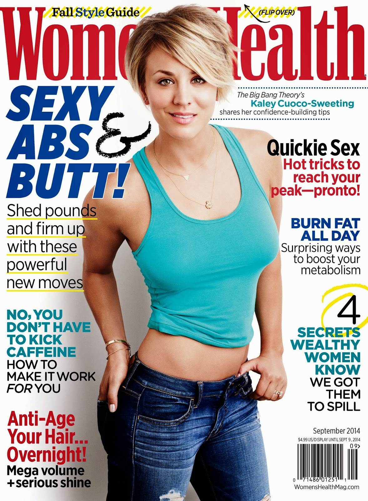 Kaley Cuoco - Women's Health Magazine, September 2014