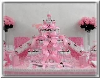 Los baby shower de ni as generalmente son en tonos rosas - Decoracion baby shower nina sencillo ...