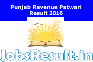 Punjab Revenue Patwari Result 2016